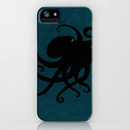 """Octopus Silhouette"" digital illustration by Amber Marine, (Copyright 2015) iPhone Case"