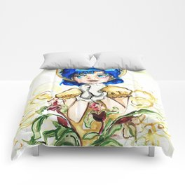 Sailor Jupiter Yellow Flower Comforters