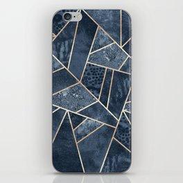 Soft Dark Blue Stone iPhone Skin