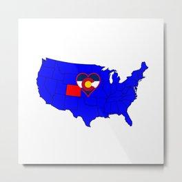 State of Colorado Metal Print
