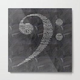 Fa key on chalkboard Metal Print
