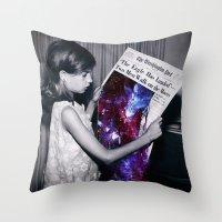 houston Throw Pillows featuring Houston  by Saturos