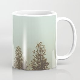 Pastel Green Adventure Forest Nature Photography Coffee Mug