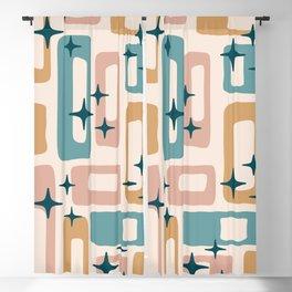 Retro Mid Century Modern Abstract Pattern 126 Blackout Curtain