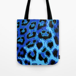 Blue Leopard Spots Tote Bag