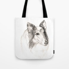 Remembering Maggie :: A Tribute to a Collie Tote Bag