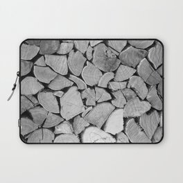 black'n white wood Laptop Sleeve