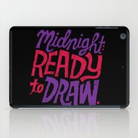 cocaine iPad Cases featuring Midnight: Ready to Draw by Chris Piascik