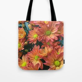 Cream and Pink watered Flowers Tote Bag