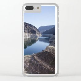 Hoover Dam Reflections Clear iPhone Case