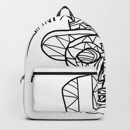 Skull Uncle Sam Black and White Mosaic Backpack