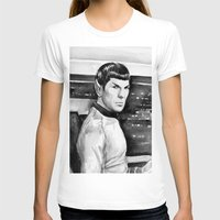 spock T-shirts featuring Spock by Olechka