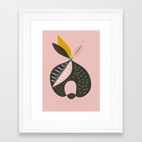 apple Framed Art Prints featuring Apple by FLATOWL