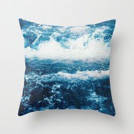The wild, wild sea Throw Pillow
