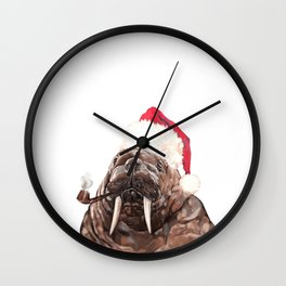Christmas Daddy Walrus Wall Clock