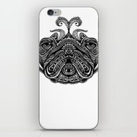 henna iPhone & iPod Skins featuring Henna of Pugly by Huebucket