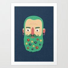 Beard Baubles Art Print