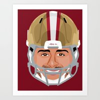 49ers Art Prints featuring Faces-San Francisco by IllSports