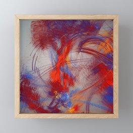 burning Heart Framed Mini Art Print