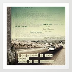 on the road collage Art Print