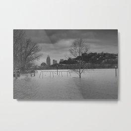 Fish's Playground - Cincinnati Flood 2015 Metal Print