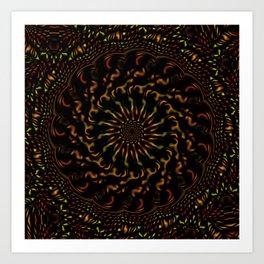 Red Orange and Yellow Kaleidoscope 4 Art Print