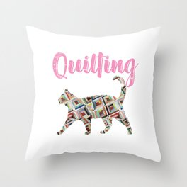 Quilting Quilt Cat Pet Animal Crafting Gift Throw Pillow