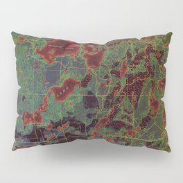 Pillager old map year 1916, american old maps Pillow Sham