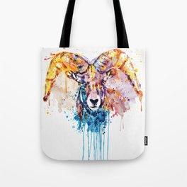 Bighorn Sheep Portrait Tote Bag
