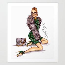 Furroucious Fashionable Female Art Print