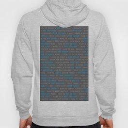 Blue Web Design Keywords Poster Hoody