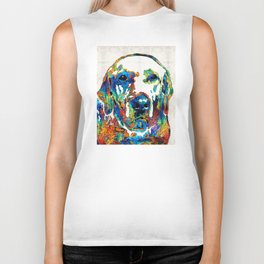 Labrador Retriever Art - Play With Me - By Sharon Cummings Biker Tank