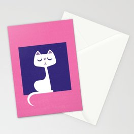 Cat in a window Stationery Cards