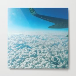 Blue cotton candy sky Metal Print