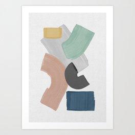 Pastel Paint Blocks, Pastel Wall Art Art Print