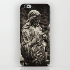 Jesus in the rain iPhone & iPod Skin