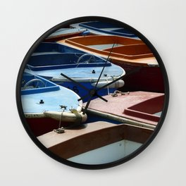 Boats On A River Wall Clock