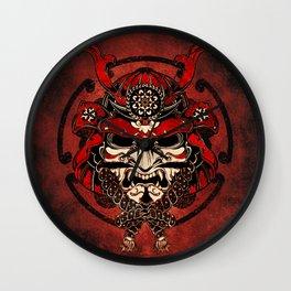 Samurai Warrior Mask Wall Clock