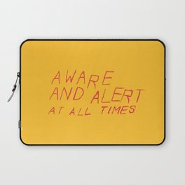 aware and alert Laptop Sleeve
