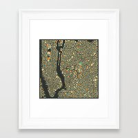 new york map Framed Art Prints featuring NEW YORK MAP by Jazzberry Blue