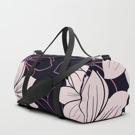 Black and pink autumn dahlia flowers Duffle Bag