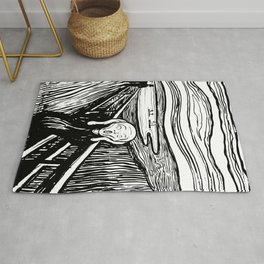 Edvard Munch The Scream 1895 Lithograph Reproduction Artwork for Prints Posters Tshirts Men Women Ki Rug