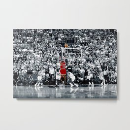 Michael#Jordan Last Shot Canvas Wall Art Framed Print Metal Print