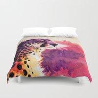 cheetah Duvet Covers featuring Cheetah by Fallen Apple Designs