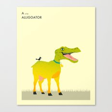 A is for Alligoator Canvas Print