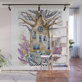 Teapot Baobab of my dreams Wall Mural
