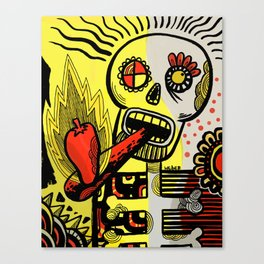 Endorphin Rush / Shake'n the Skull! Canvas Print