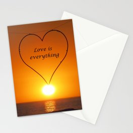 Love is everything Stationery Cards