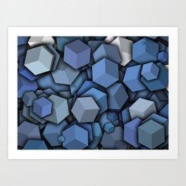 plastic cube Art Print