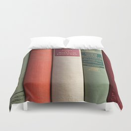Old Books - Square Duvet Cover